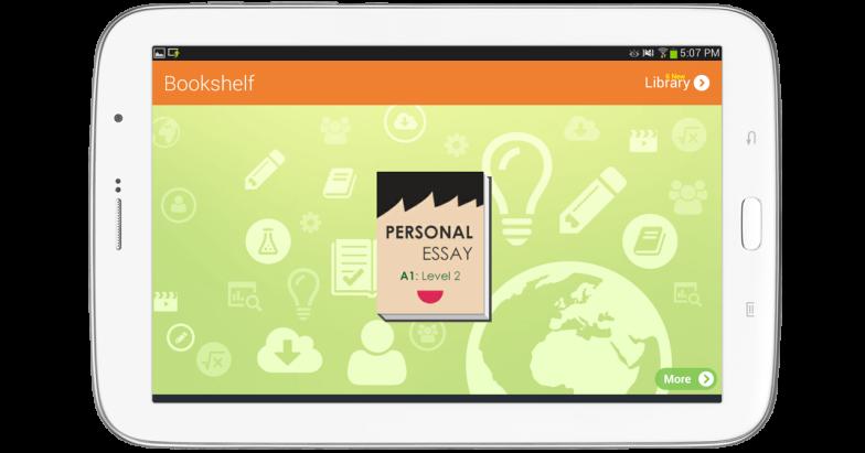 Bookshelf on student app