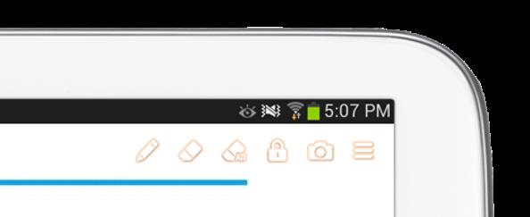 Toolbar on teacher tablet : Not using stylus