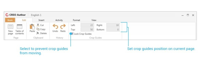 Setting crop Guide